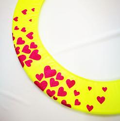 Copricerchio Art Glitter art.03121802-GRS-HEARTS € 20,00