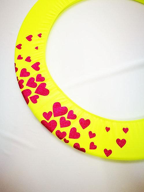 Copricerchio Art Glitter art.03121802-GRS-HEARTS giallo/rosso