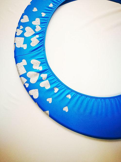 Copricerchio Art Glitter art.03121802-AAB-HEARTS azzurro/argento