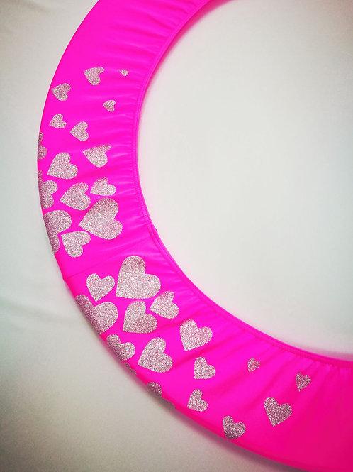 Copricerchio Art Glitter art.03121802-FAR-HEARTS fuxia/argento