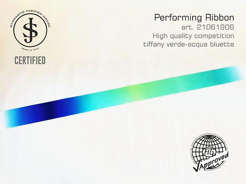 Nastro da ritmica art. 21061909 multicolor tiffany verde-acqua bluette