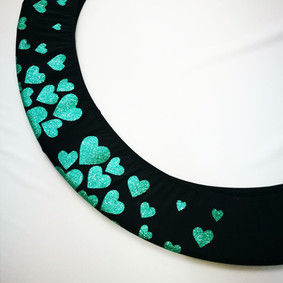 Copricerchio Art Glitter art.03121802-NTU-HEARTS € 20,00