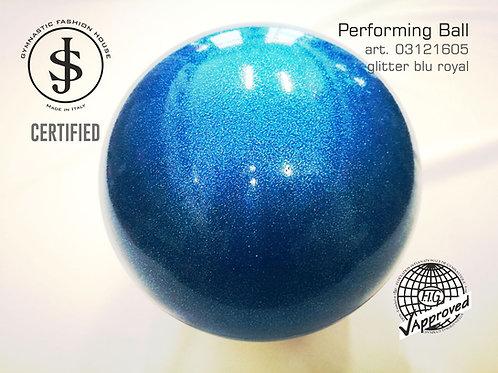 Palla da ritmica blu glitter