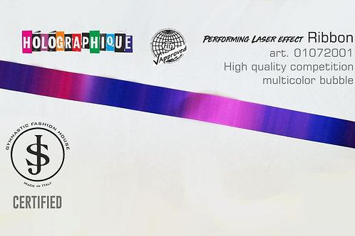 Nastro da ritmica Holographique art. 01072001 multicolor bubble