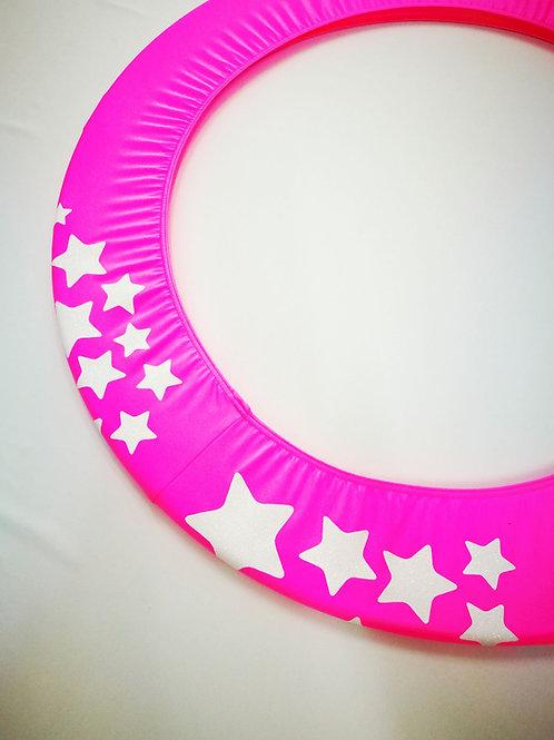 Copricerchio Art Glitter art.03121802-FBI-STARS fuxia/bianco