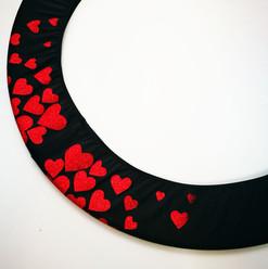 Copricerchio Art Glitter art.03121802-NRS-HEARTS € 20,00