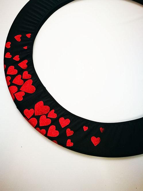 Copricerchio Art Glitter art.03121802-NRS-HEARTS nero/rosso