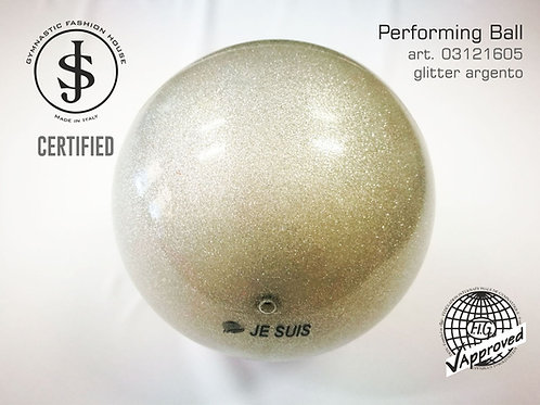 Palla da ritmica argento glitter