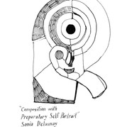 Sonia Delaney - Composition with Preparatory Self Portrait