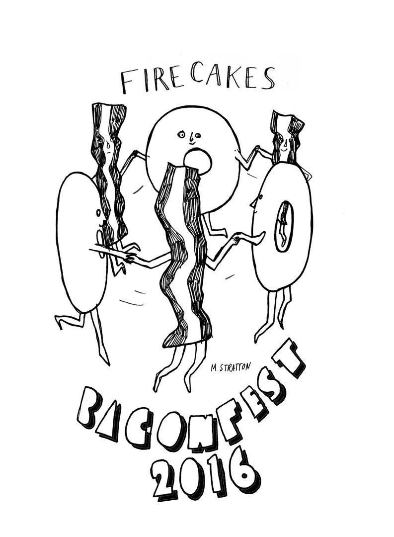 baconfest t shirt design, 2016