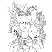 Frida Kahlo - Self Portrait with Thorn Necklace and Hummingbird