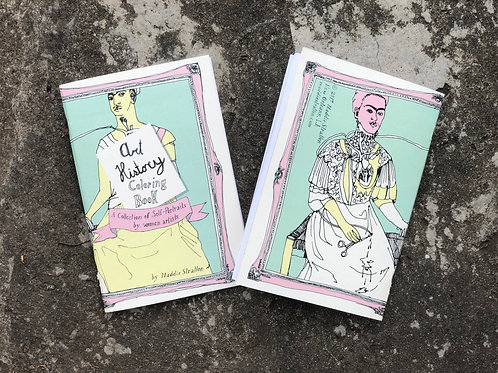 Art History Coloring Book -Self Portraits by female artists