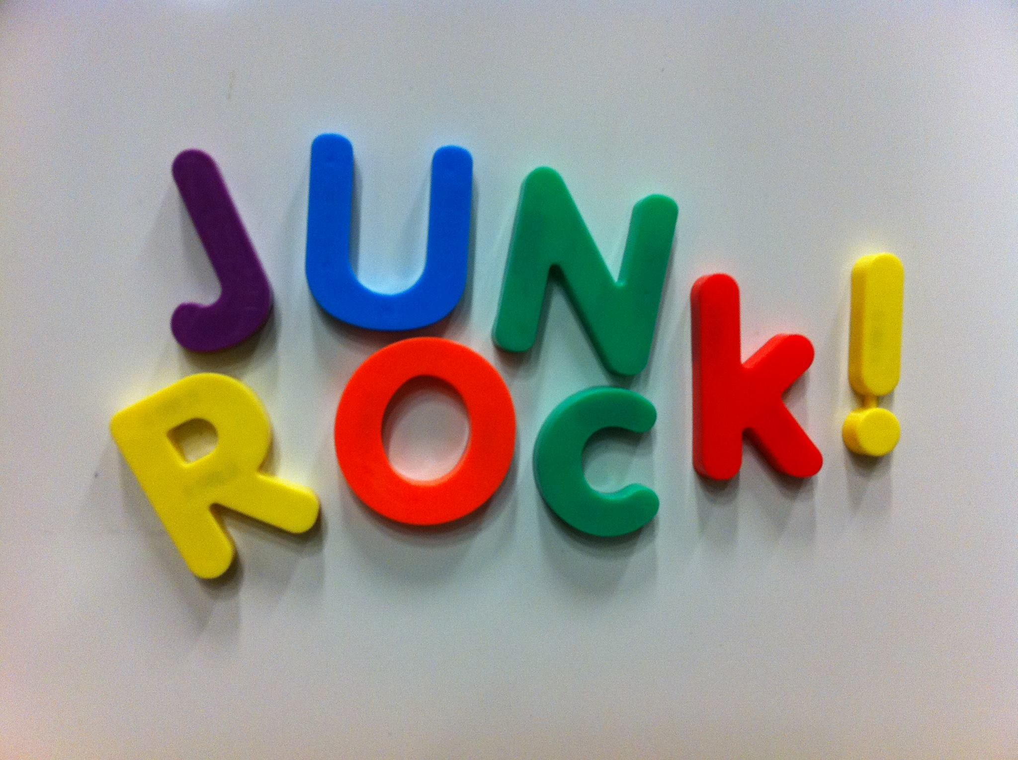Junk Rock Magnet Letters