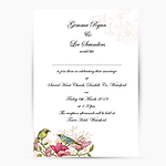Spring Wedding Invitation Birds