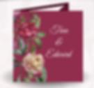 Tri-fold wedding invitations