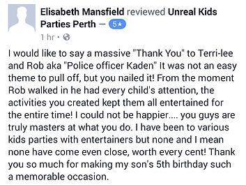 policeman kids entertainer perth