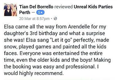 unreal kids parties reviews