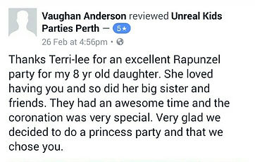 hire a party princess in perth