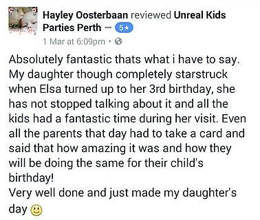 facebook reviews kids parties perth
