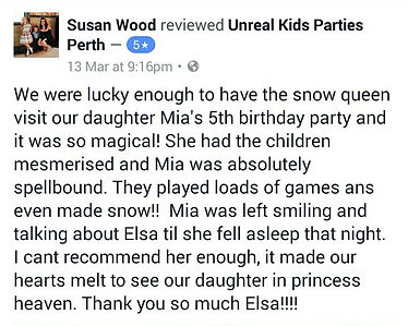 Elsa and Anna for kids party in perth