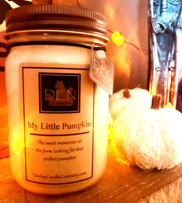 My Little Pumpkin Candle, DEN Soy Candle Company