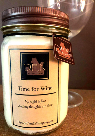 Time for Wine Candle, DEN Soy Candle Company