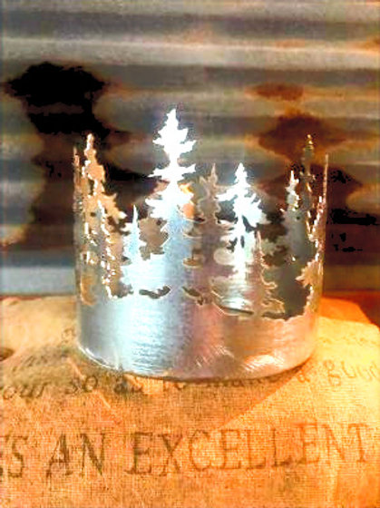 3 Wick Steel Tree candle Hugger