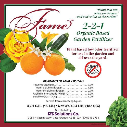 Fame 2-2-1 Organic Based Garden Fertilizer 4 Gal X 1 Box
