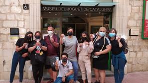 Els programes GESO i d'alfabetització de Figueres visiten el Museu del Joguet de Catalunya
