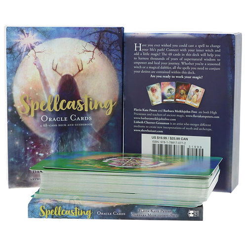 Spellcasting Oracle Cards: A 48-Card Deck and Guidebook + FREE GIFT