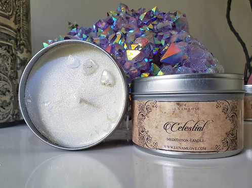 Celestial Spell Tin Candle-  Cutting Cords & Clearing The Aura
