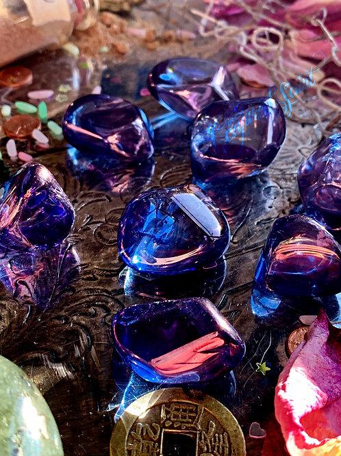Tanzan Aura Quartz Gem Stone- Mediums, Shamans, Readers, Channelers, Healers