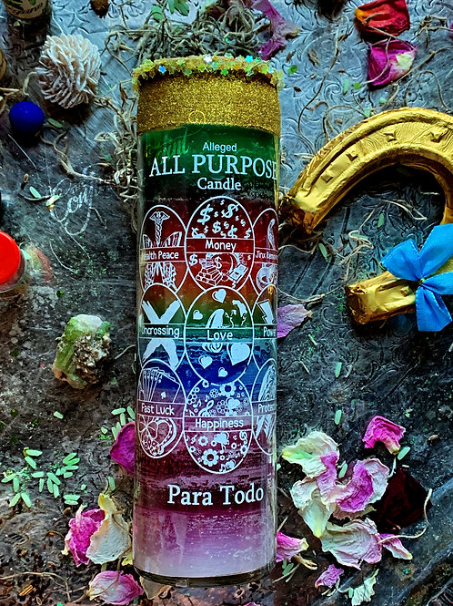 All Purpose 7 Day Hoodoo Ritual Candle-  For Luv, Luck, Good Business, Etc..