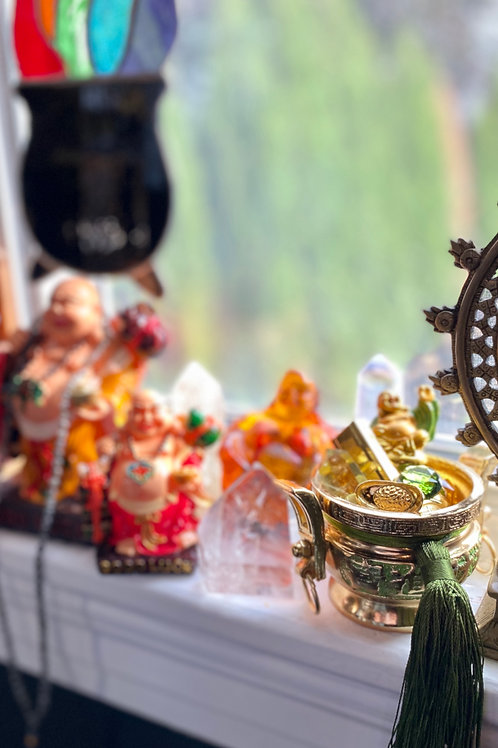 Money Buddha Fortune Bowl - MONEY ALTAR- Welcome in Money Energy