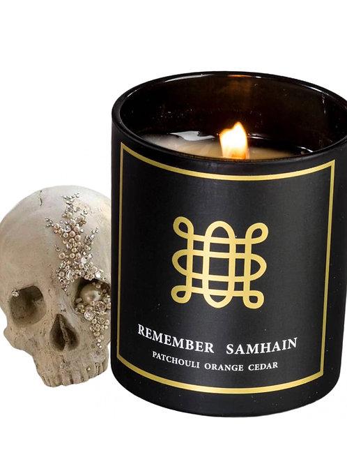 Remember Samhain Candle-  Halloween, October 31st. Rituals, Honoring Ancestors