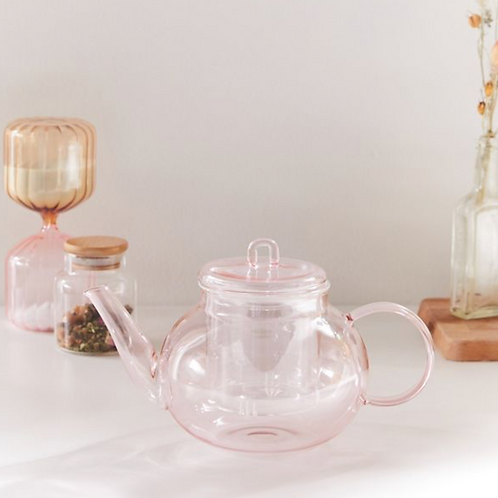 Unicorn Pink Teapot Set-  Infuser For Loose Leaf Tea And a Lidded Top