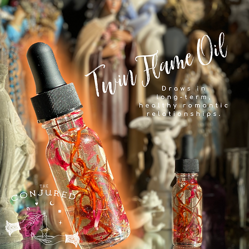 Twin Flame Oil-Draws in Suitable Partners, Love & Marriage