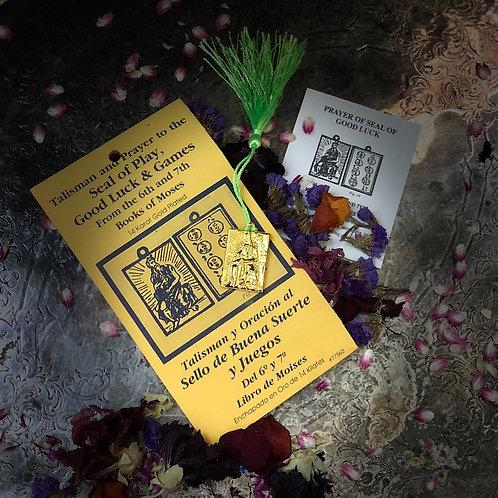 Vintage Talisman & Prayer- Seal of Play- Good Luck & Games