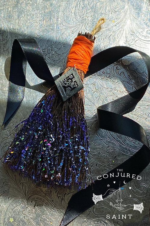 The BlackPullet Magical Cinnamon Broom Talisman- Possess All Treasures