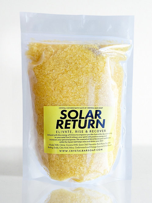 Solar Return- Bath Salts- RECHARGE, RELAX, & MEDITATE