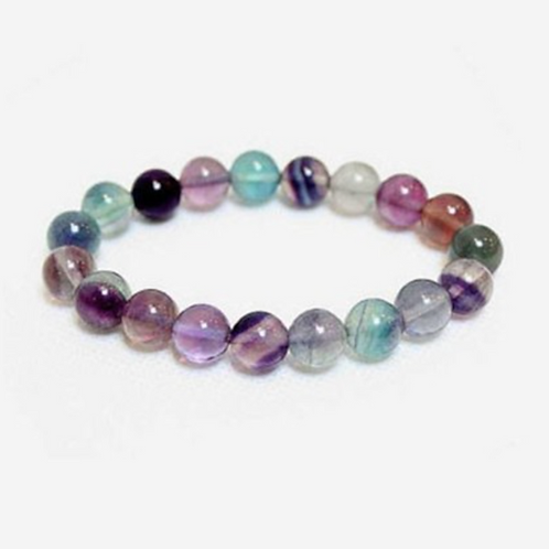 Fluorite AAA Quality Crystal Bracelet- Mental Clarity, Success, Auric Clearing