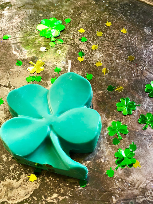 Lucky Four Leaf Clover Candle- Loaded with lucky Juju