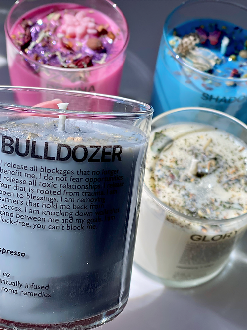 Bulldozer Ritual Spell Candle- Clearing The Path To Blessings
