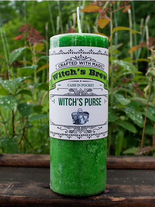 witch's purse candle,Hoodoo, Voodoo, Wiccan, Pagan, Santeria, Brujeria, Folk Magic, Pagan, Spiritualist, spell, conjure