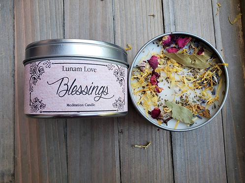 Blessings Meditation Candle //Tin Candle // Spell Candle // Ritual Candle