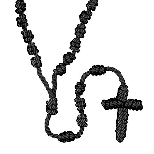 Knotted Cord Rosary Bracelet Black ( BlessedFrom My Local Church )