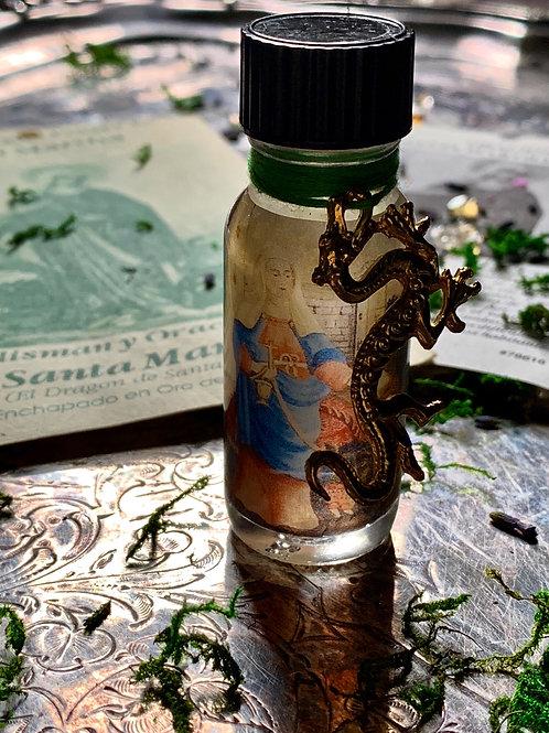 Saint Martha Oil Set- Prayer & Talisman- Happy Home, Relationships, Returns Love, Hoodoo, Voodoo, Wiccan, Pagan, Santeria, Br