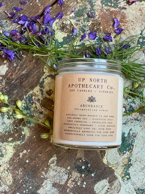 Abundance Candle- New Blessing, Fresh Wishes, Abundance, Protection