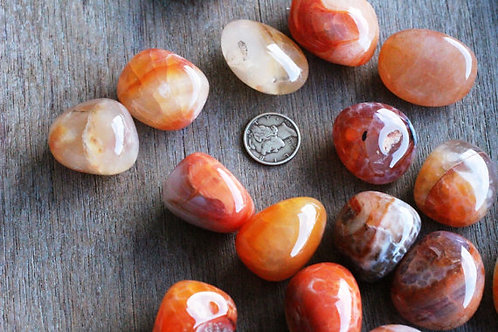 Fire Agate Tumbled Stone- Aids in the Ability to Manifest Ones Desires..