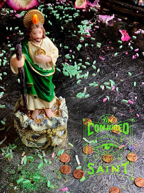 "5"" Saint Jude w/ Money Sack & Oil - ""The Miraculous Saint"""